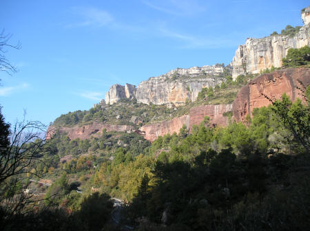 Siurana Mountain Climbing Area in Catalonia Spain